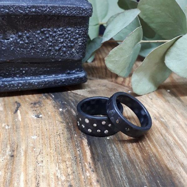 Diamond Carbon Stardust Ring DesignYard