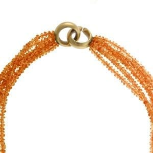 18k Yellow Gold Carnelian Necklace DesignYard