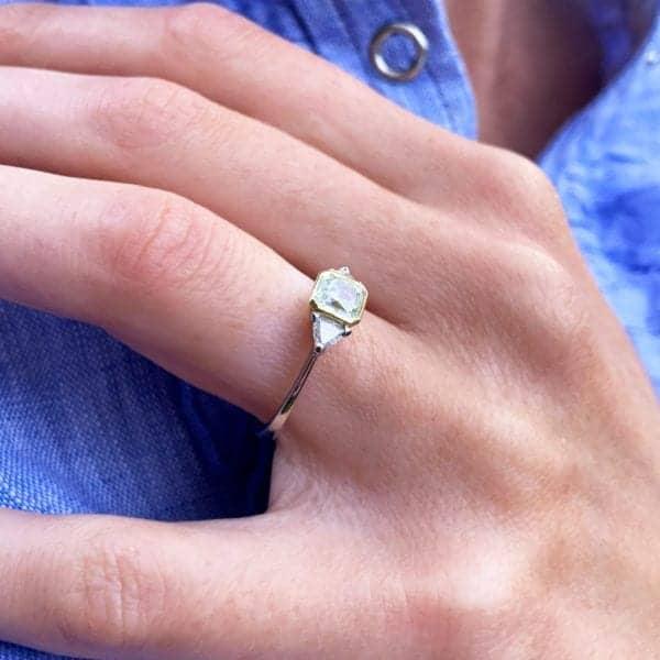 Ronan Campbell Green Gold Green Diamond Engagement Ring Designyard