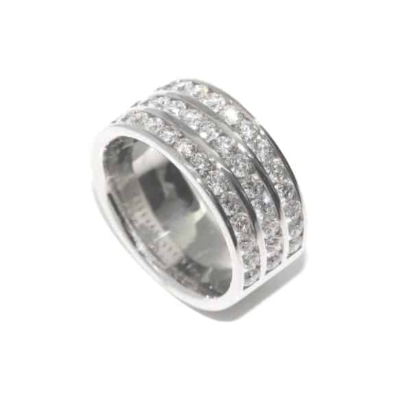 Platinum Wide Diamond Eternity Ring DesignYard