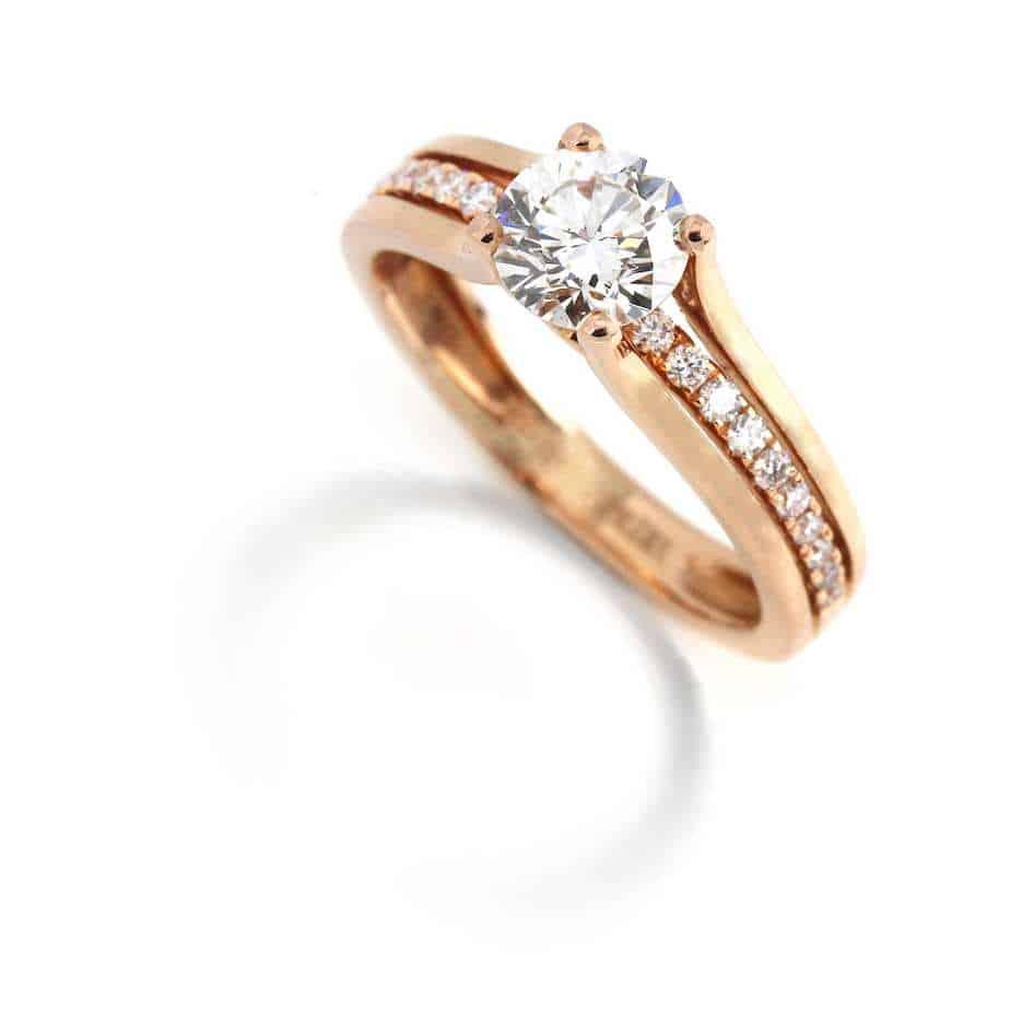 Engagement Rings 18k Rose Gold Diamond Engagement Ring Designyard