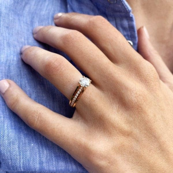 Ronan Campbell Rose Gold Diamond Engagement Ring