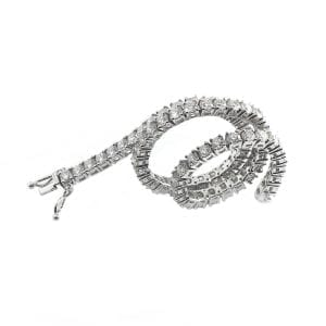 18k White Gold Diamond Tennis Bracelet DesignYard