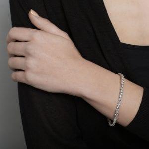 18k White Gold Diamond Tennis Bracelet DesignYard