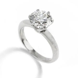 Platinum D Flawless Round brilliant Solitaire Diamond Engagement ring DesignYard ronan campbell art rings contemporary