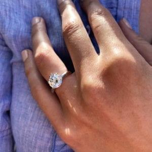 Ronan Campbell Platnium Solitaire Diamond Engagement Ring Designyard
