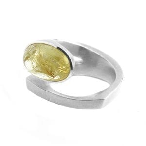Sterling Silver Laguna Rutilated Quartz Ring DesignYard