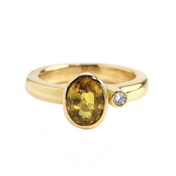 14k Yellow Gold Yellow Sapphire Diamond Ring DesignYard