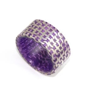 Silver Purple Resin Ring DesignYard