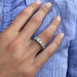 Ronan Campbell Platinum five Diamond Eternity Ring