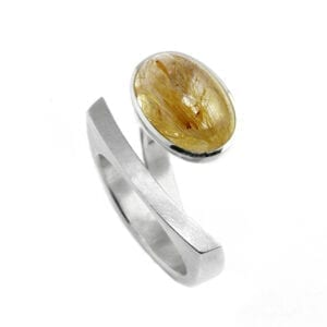 angela hubel contemporary silver ring laguna quartz designyard dublin ireland jewellery art sculpture design