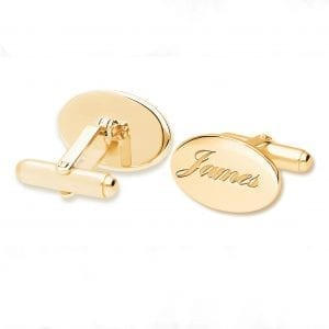 Designyard 9k Yellow Gold Oval Cufflinks