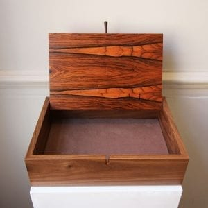 Walnut Box with Rio Rosewood Veneer DesignYard