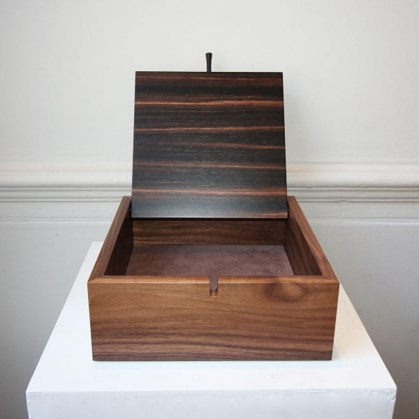 Walnut Box with Macassar Ebony Veneer on Birch