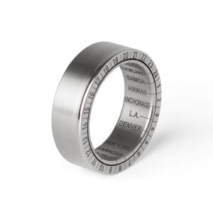 Titanium Girello World Time Ring DesignYard Wedding Ring