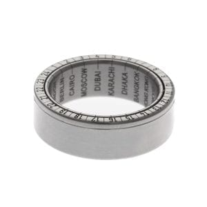 MTE1Titanium Girello World Time Ring DesignYard Wedding Ring