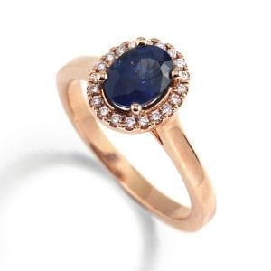Ronan Campbell 18k Rose Gold Sapphire Diamond Engagement Ring Designyard