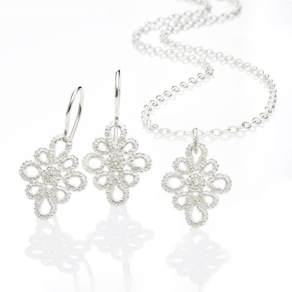 Sterling Silver Diamond Medea Earrings DesignYard
