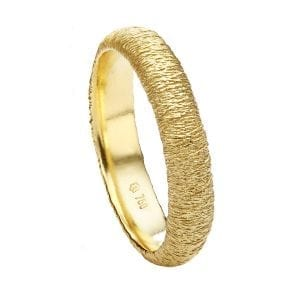 18k Yellow Gold Spun Ring Designyard