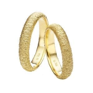 18k Yellow Gold Spun DesignYard