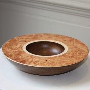 Mark Hanvey Walnut Sycamore Burr Maple Layered Bowl Designyard