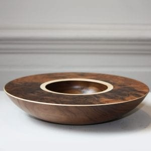 Mark Hanvey Walnut Burr Sycamore Layered Bowl Designyard
