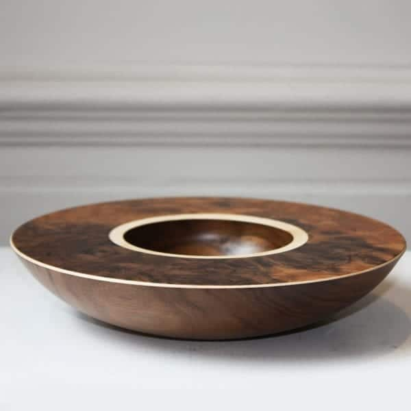 Mark Hanvey Walnut Burr Sycamore Layered Bowl Designyard