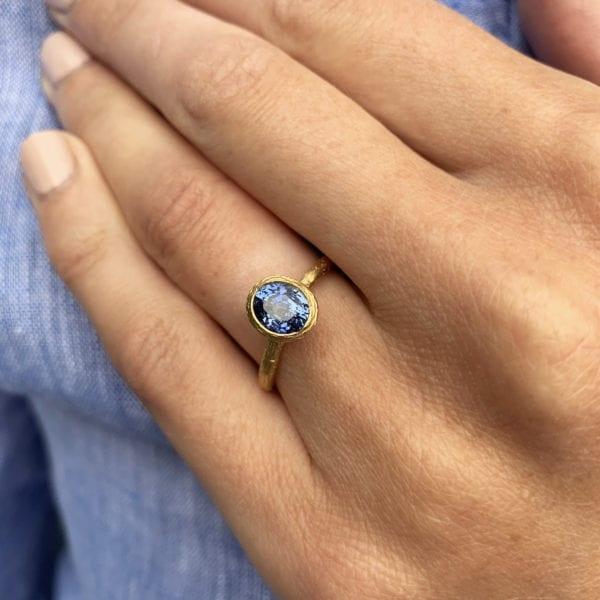 Diana Porter Fair trade Yellow Blue Sapphire Engagement Ring Designyard