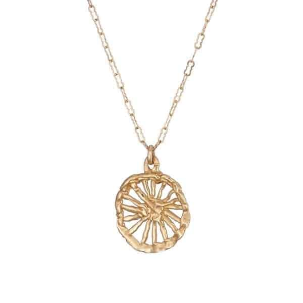 14k Yellow Gold Freedom Radiant Necklace DesignYard