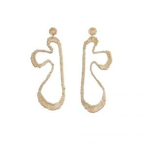 9k Yellow Gold Matisse Earrings DesignYard