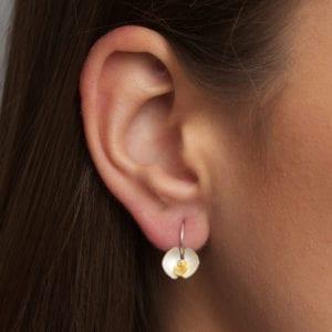 contemporary earrings gold silver inga reed designyard