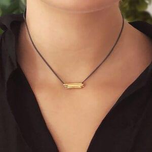 mirri damer contemporary jewellery drift yellow gold necklace oxi designyard dublin ireland paris rome london belfast adare manor co limerick sheen falls co kerry manhattan the hamptons