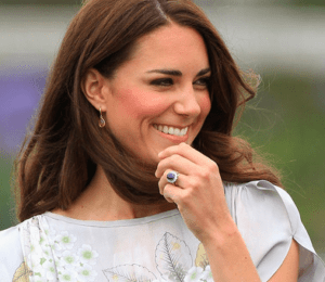 Kate Middleton Duchess of Cambridge Blue Sapphire Engagement Ring DesignYard