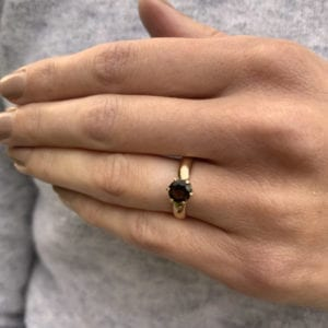 contemporary smokey quartz ring designyard friederike grace