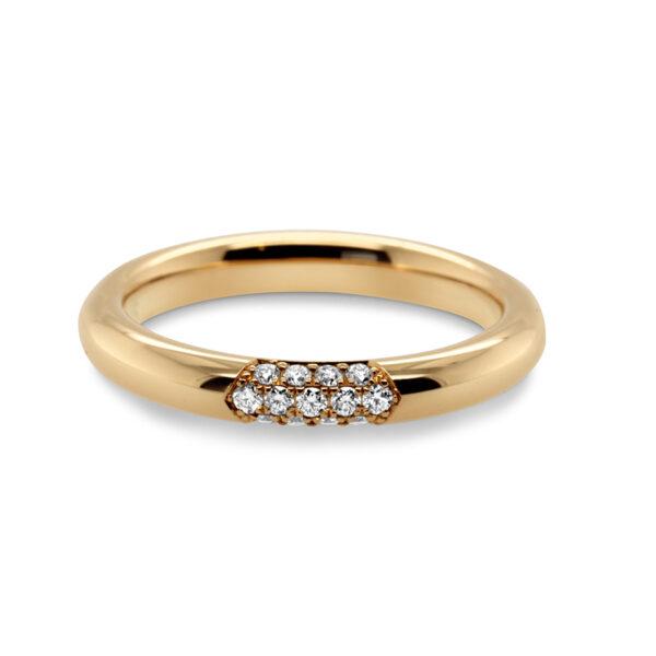meister 18k rose gold diamond pave ring designyard contemporary jewellery gallery dublin ireland handmade jewelry design designer irish jewellers shop