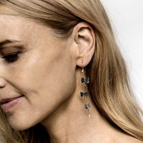 Contemporary Earring Gold Silver Diamond Pearl Bergsoe Designyard