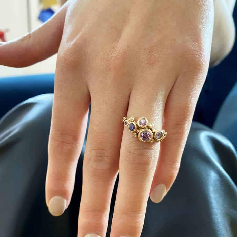 diana porter fair trade gold tanzanian spinel canada mark 18k rose gold ring designyard contemporary jewellery gallery dublin ireland