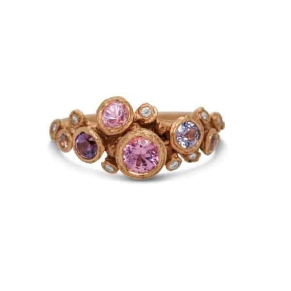 diana porter fair trade tanzanian spinel canada mark 18k rose gold ring designyard contemporary jewellery gallery dublin ireland luxury fine jewelry