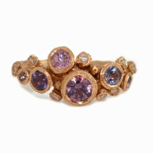 contemporary ring rose gold spinel diamond diana porter designyard