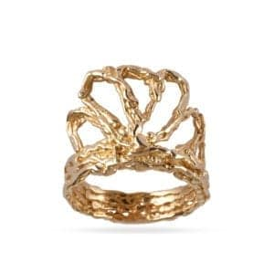 contemporary ring gold ella green designyard