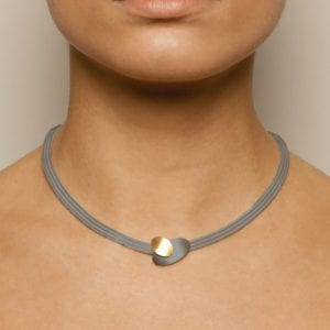 contemporary necklace yellow gold silver manu designyard