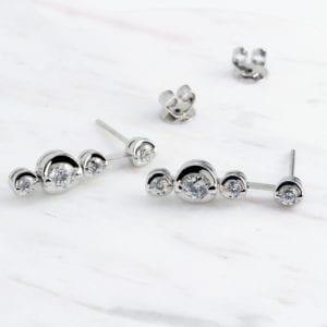 contemporary diamond earrings ronan campbell designyard
