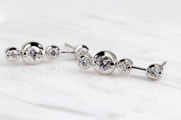 contemporary diamond earrings ronan campbell designyard dublin ireland