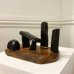 contemporary art sculpture bog oak dolmen tony downey designyard