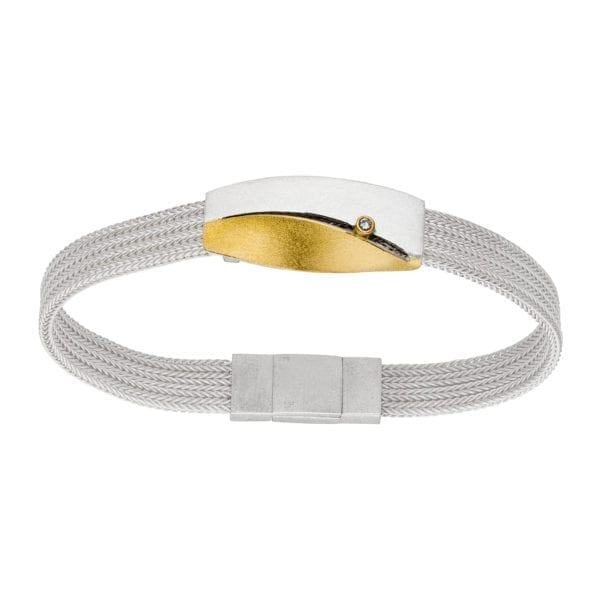 contemporary jewellery bracelet silver yellow gold diamond manu designyard dublin ireland