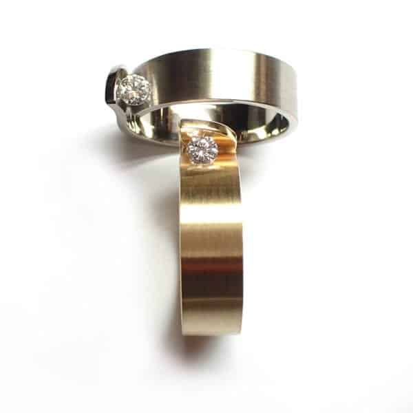 alternative engagement ring contemporary jewellery art rings diamond zinnia designyard dublin ireland cardillac