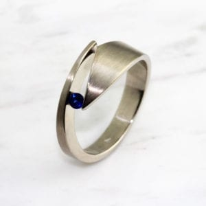 contemporary jewellery art rings designyard dublin ireland sapphire cardillac