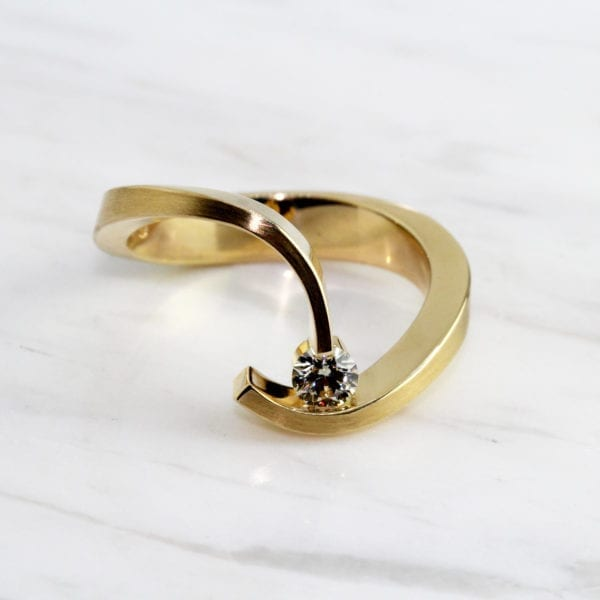 contemporary jewellery art rings diamond designyard dublin ireland cardillac engagement