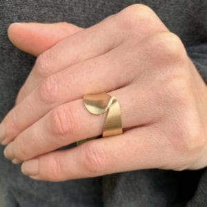 contemporary art rings design art jewellery designyard dublin ireland yellow gold diamond cardillac