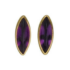 contemporary jewellery earrings amethyst designyard manu gold silver